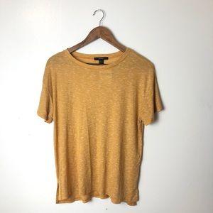 NWT Forever 21 Yellow Short Sleeve T-shirt Medium